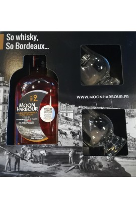 Coffret  2 verres + Whisky Moon Harbour Pier 2 47.10°