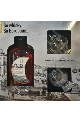 Coffret 2 verres + Whisky Moon Harbour Pier 1 45.8°
