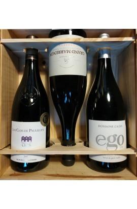 Coffret bois vins 3 bouteilles